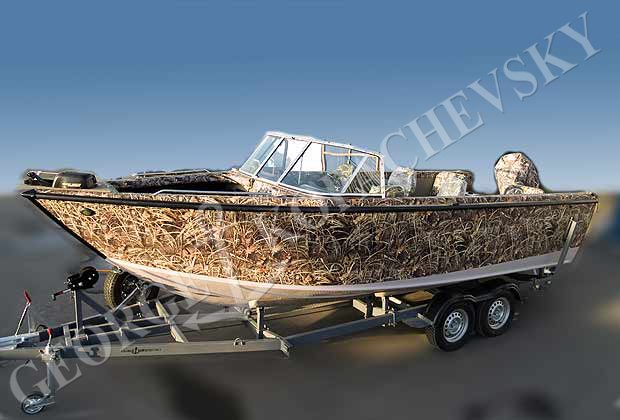 оклейка лодки пленкой