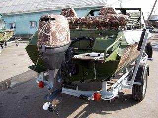 Ладка Buster M, двигатель 50 YAMAHA + прицеп
